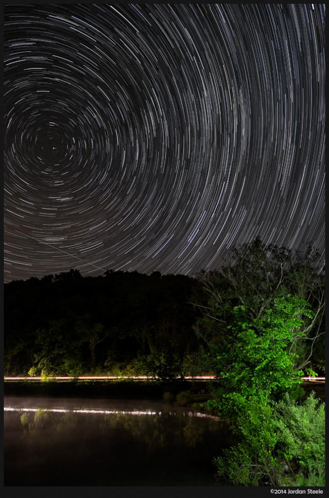 Star Trails, Lake Logan, Ohio - Fujifilm X-T1 with Fujinon XF 14mm f/2.8R @ ISO 800, f/2.8, 47.5 minutes (95 exposures at 30s)