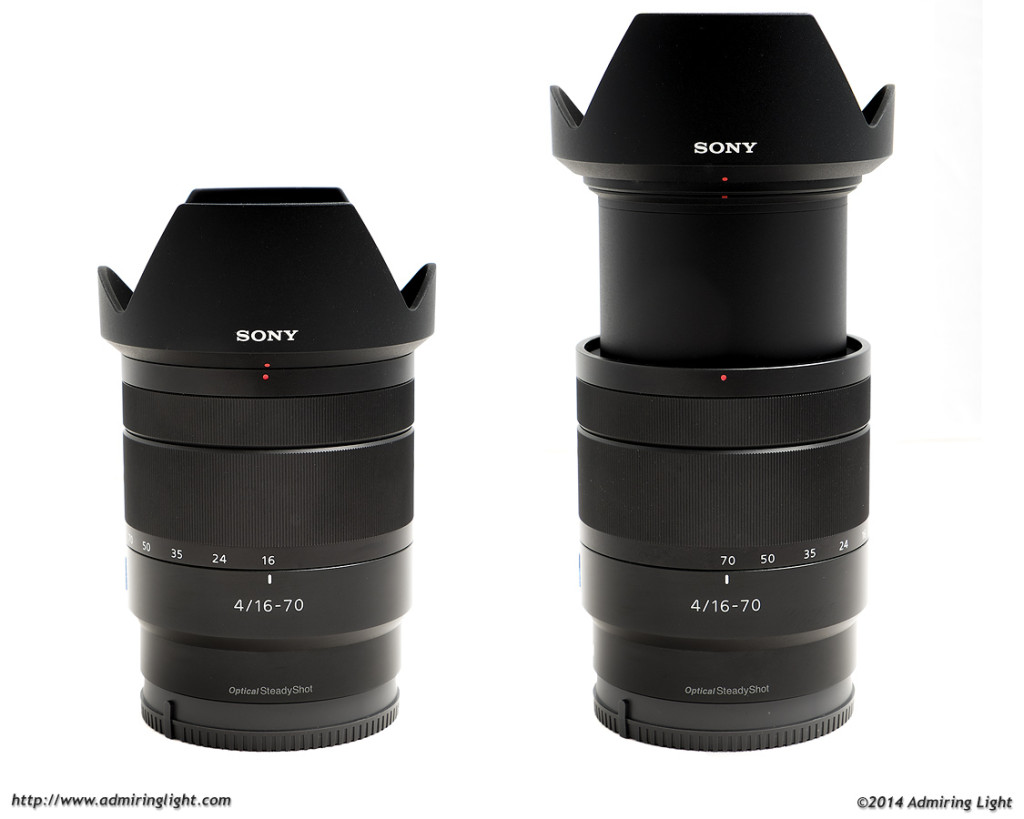 The Zeiss 16-70mm at 16mm (left) and 70mm (right)