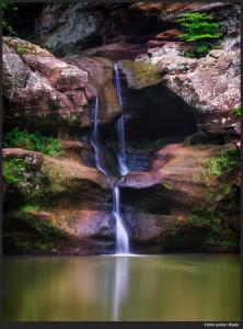 Upper Falls, Hocking Hills, OH - Sony a6000 with Sigma 60mm f/2.8 @ f/8