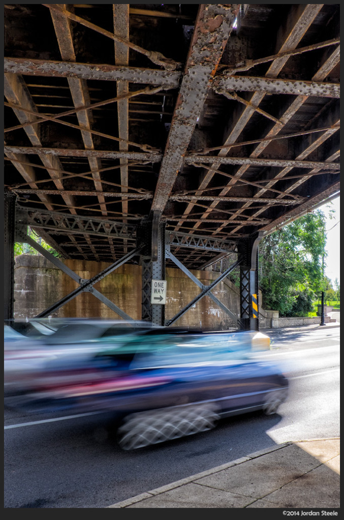 Under the Bridge - Fujifilm X-T1 with Fujinon XF 18-135mm f/3.5-5.6 @ 18mm, f/22
