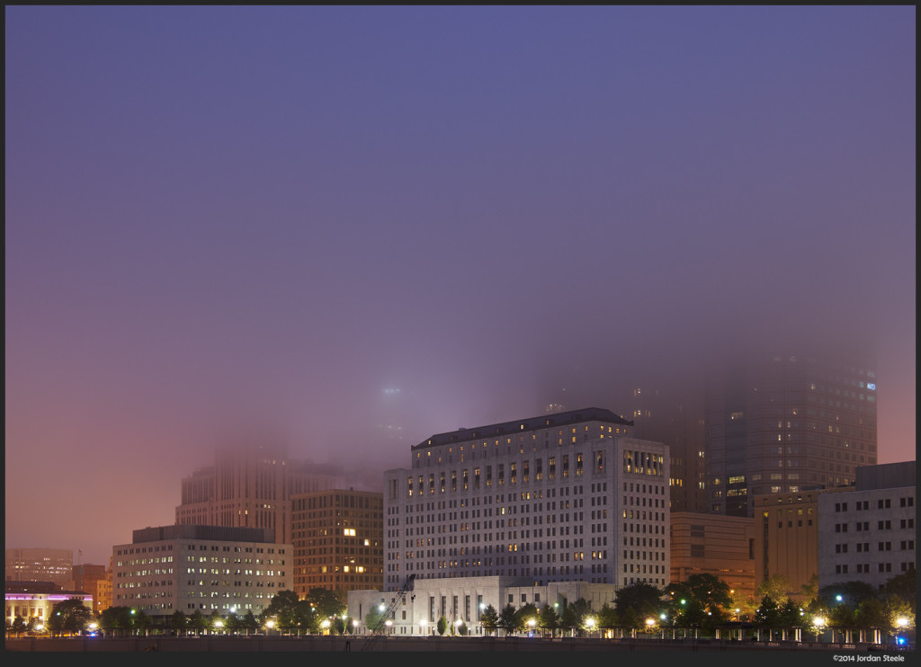 Columbus in the Fog - Fujifilm X-T1 with Fujinon XF 18-135mm f/3.5-5.6 @