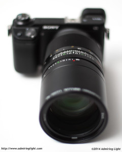 Ibelux 40mm f/0.85 - This shot of the lens was taken at 39mm and f/0.9 with the Canon FL 55mm f/1.2 with a Metabones Speed Booster