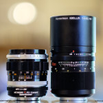 Ultra Fast Battle: Canon FL55mm f/1.2 + Speed Booster (left) vs. Ibelux 40mm f/0.85 (right)
