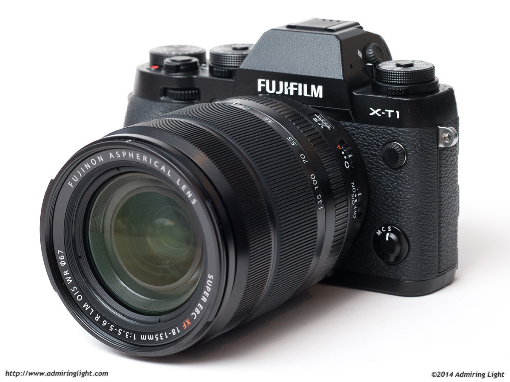 The XF 18-135mm f/3.5-5.6 R LM OIS WR on the Fujifilm X-T1