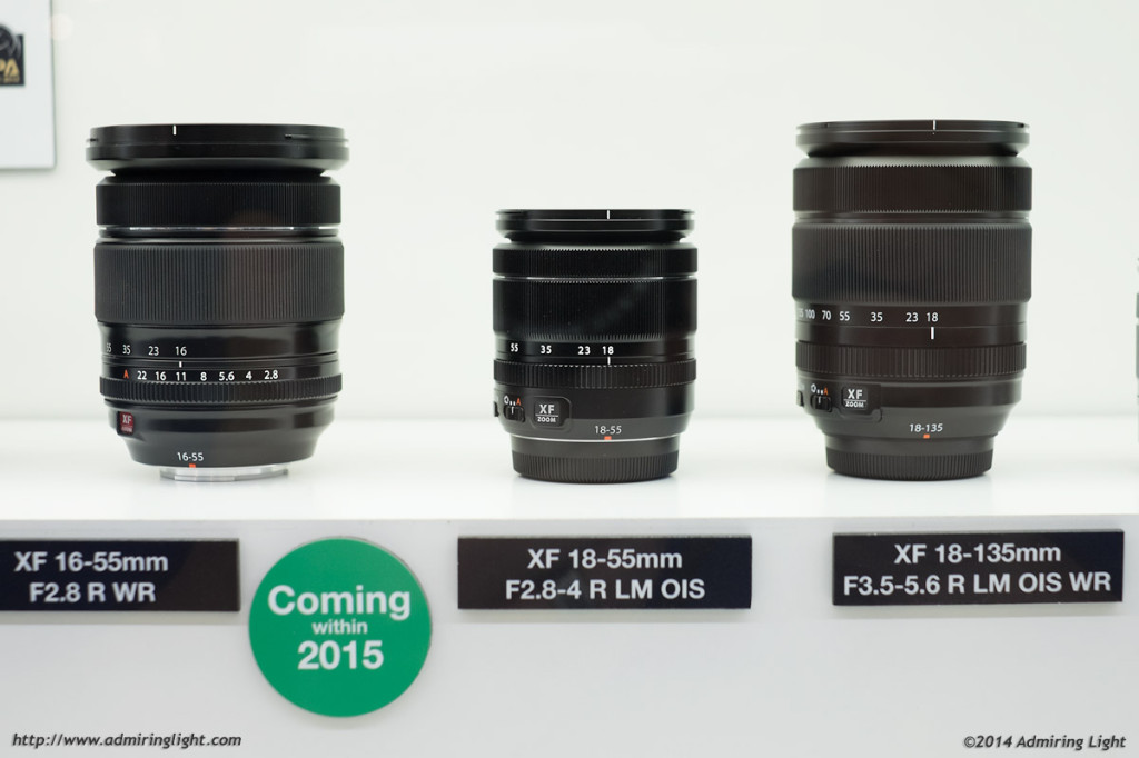 The new 16-55mmf/2.8 next to the 18-55mm f/2.8-4 and the 18-135mm.