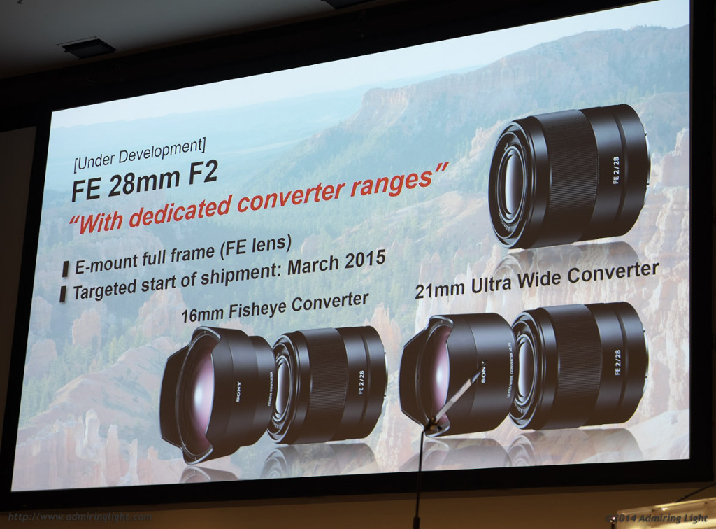Sony annunced a number of new lenses, including this 28mm f/2