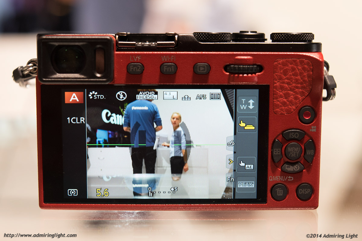 Rear of the GM5 with the EVF on the upper left corner