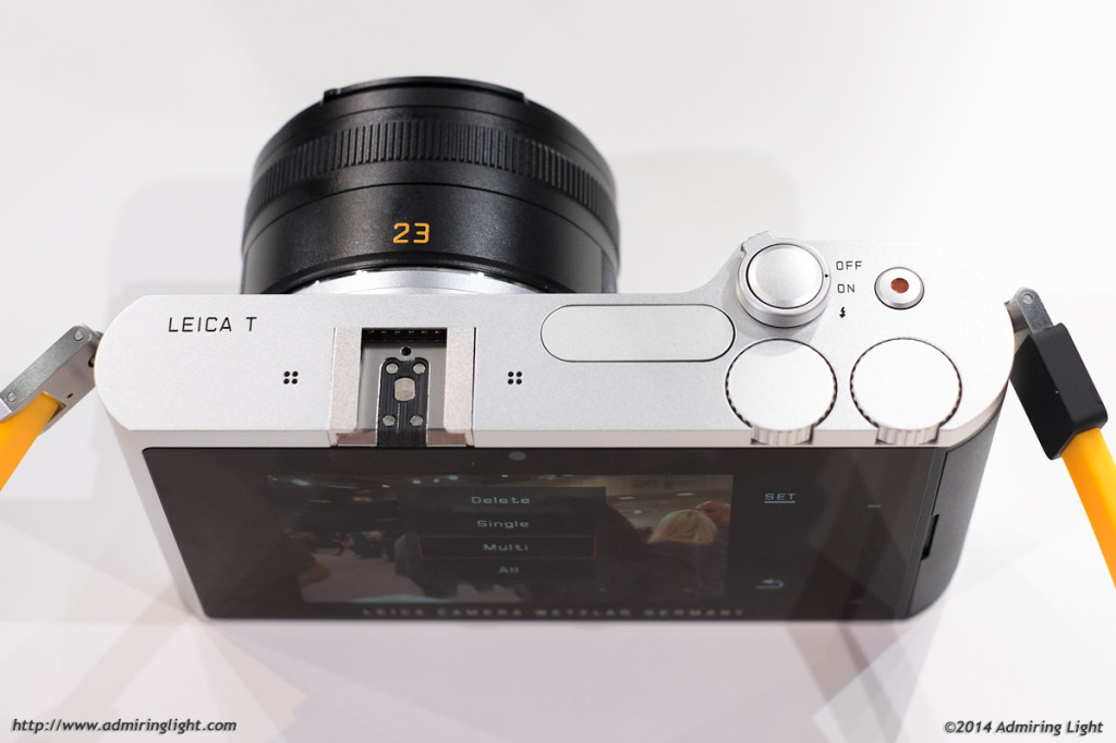 The minimal controls of the Leica T - Two dials, a power switch and a move record button