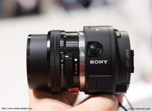 Sony QX1 without smartphone clip, with 16-50mm PZ
