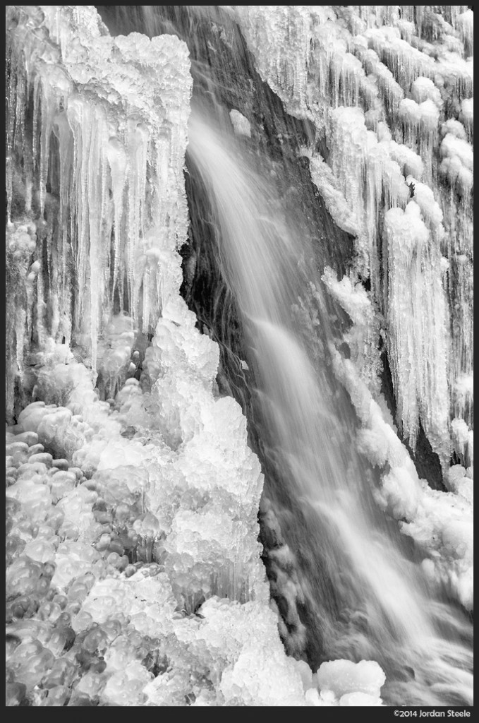 Ice Waterfall - Panasonic LX100 @ 14.9mm, f/11, 1/8s, ISO 200
