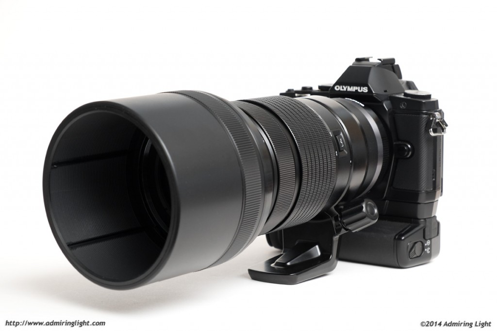 The Olympus 40-150mm f/2.8 PRO on the Olympus OM-D E-M5 with vertical grip.