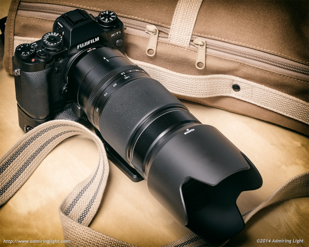 The Fujifilm XF 50-140mm f/2.8 mounted on an X-T1 with Vertical Grip