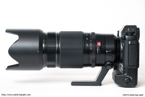 The full size of the 50-140mm can be appreciated in this side view