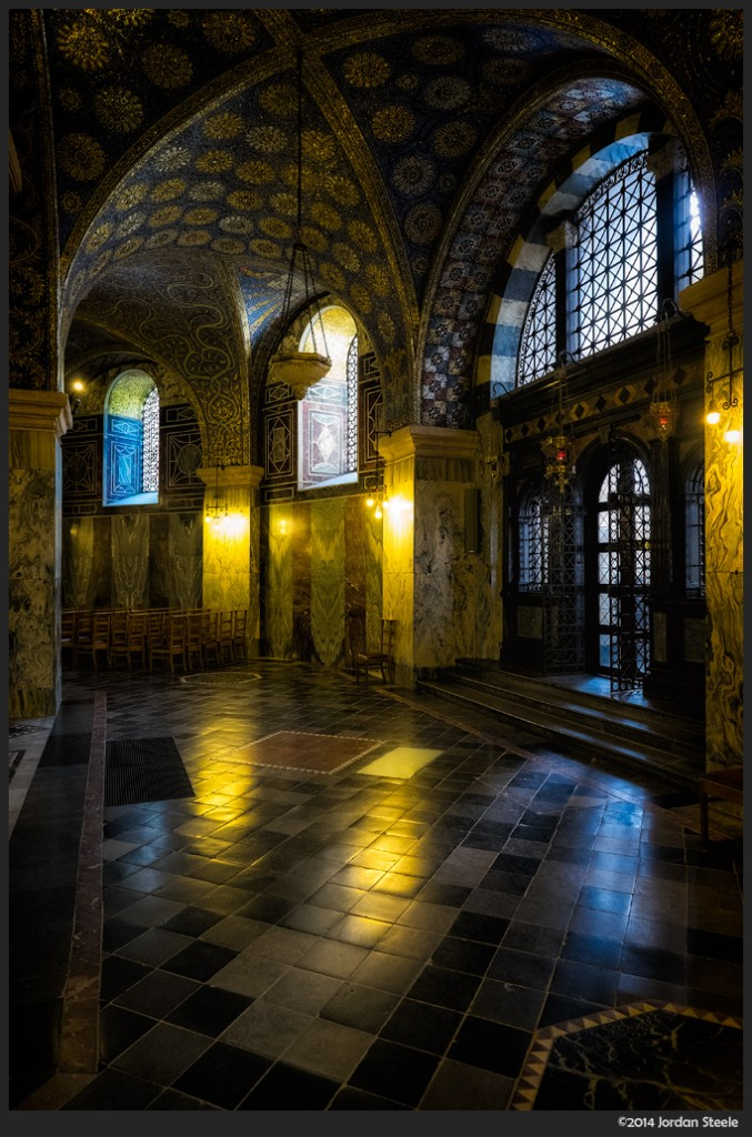 Aachen Cathedral Hallway - Fujifilm X-T1 with Fujinon XF 14mm f/2.8 @ f/4, 1/30s, ISO 3200