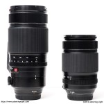 The Fuji Telephoto Zooms - 50-140mm f/2.8 on the left, 55-200mm f/3.5-4.8 on the right
