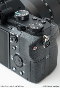 The A7II's rear controls