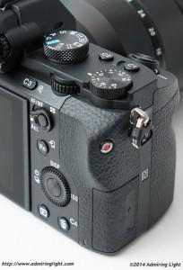The A7II's rear controls