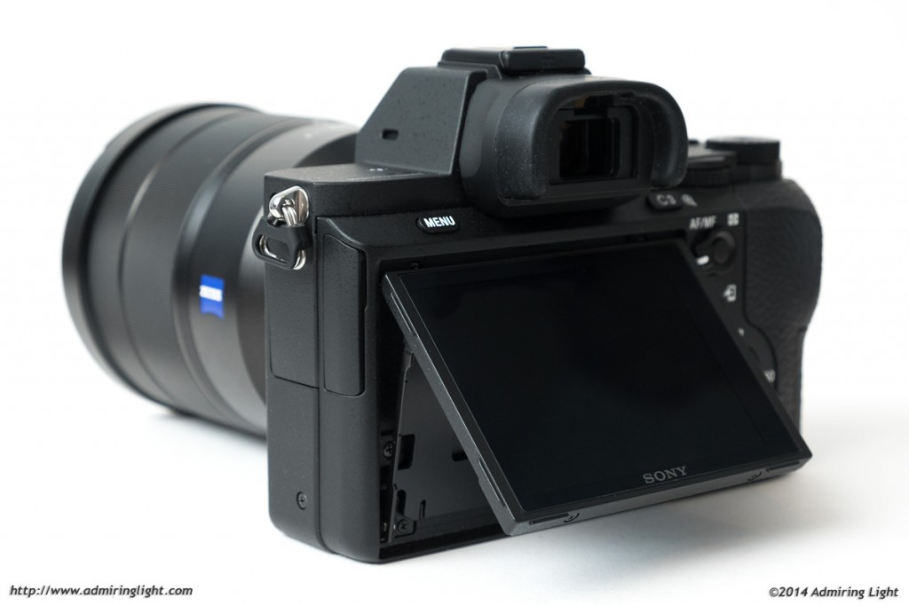 The tilting rear screen of the Sony A7 II