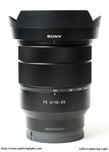 The FE 16-35mm with its hood
