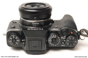 The Fujinon XF 27mm f/2.8 with the MCEX-11 on the Fujifilm X-T1