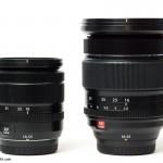 The Fuji 18-55mm (left) vs. the Fuji 16-55mm (right)