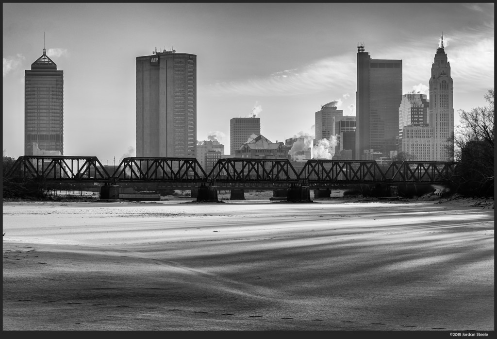 Snow Covered Scioto - Fujifilm X-T1 with Fujinon XF 16-55mm f/2.8 @ f/8