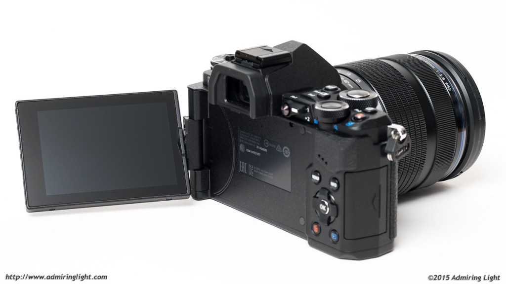 The E-M5 Mark II's fully articulating rear screen
