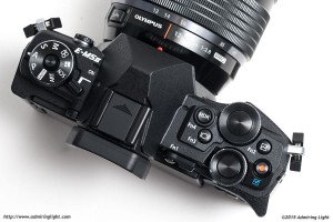 The top controls of the E-M5 II