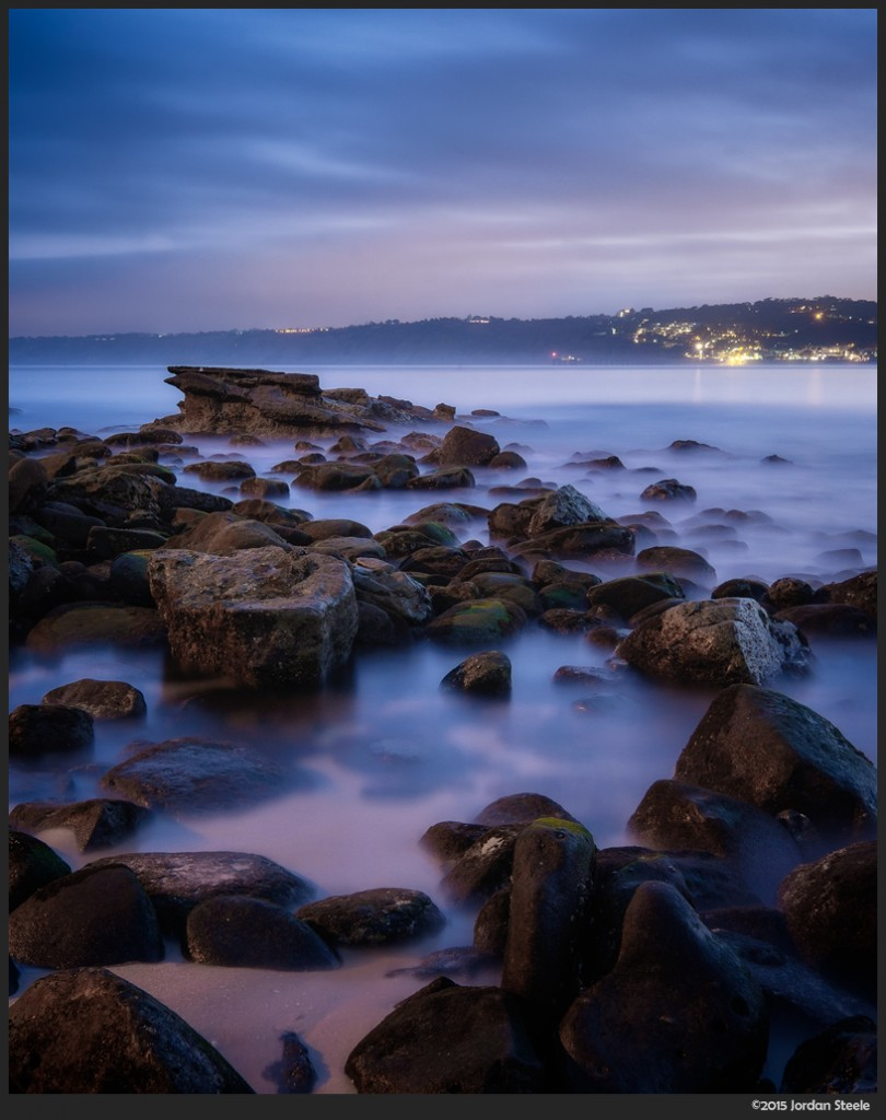 Rocks Before Dawn - LaJolla Cove Beach, LaJolla, California - Fujifilm X-T1 with Fujinon XF 10-24mm f/4 OIS @ 24mm, f/16, 3 min 30s