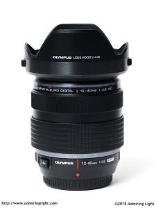 The Olympus 12-40mm f/2.8 PRO with hood