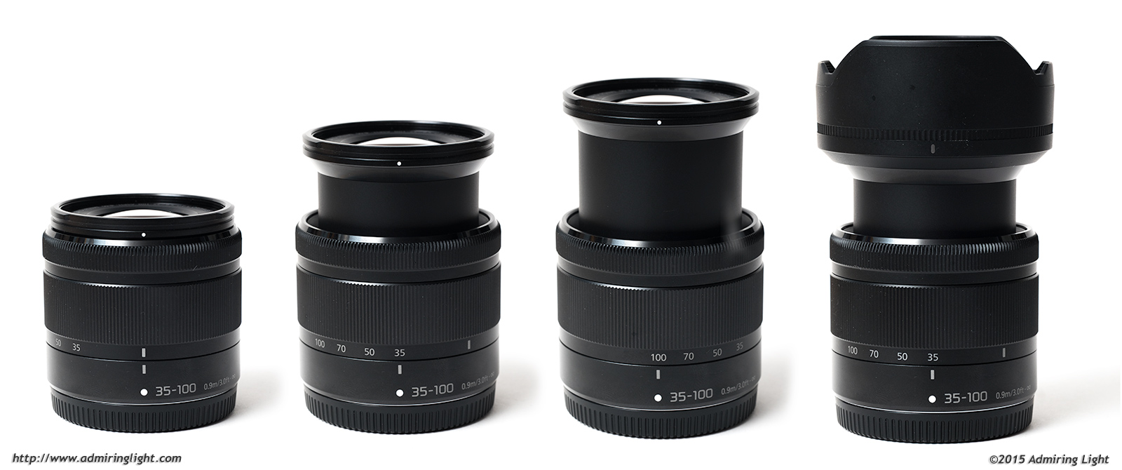The 35-100mm is a collapsible design that extends during use