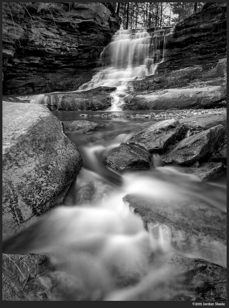 Honey Run Falls - Fujifilm X-T1 with Fujinon XF 10-24mm @ 20mm, f/16, 20s