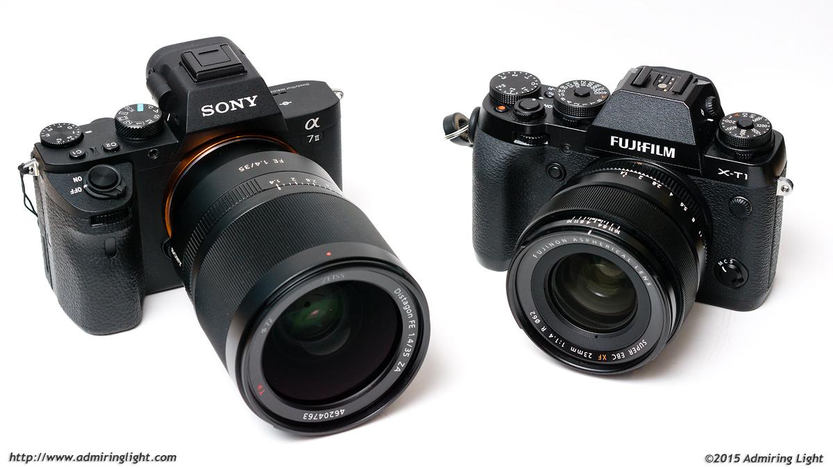 Sony Zeiss Fe 35mm F 14 Vs Fuji Xf 23mm Admiring Light Distagon T Za Lens A7 Ii With X T1