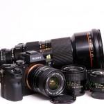My Canon FD system with the A7 II - 24mm f/2.8, 35mm f/2, 50mm f/1.4, 85mm f/1.8, 70-210mm f/4, 50-300mm f/4.5L