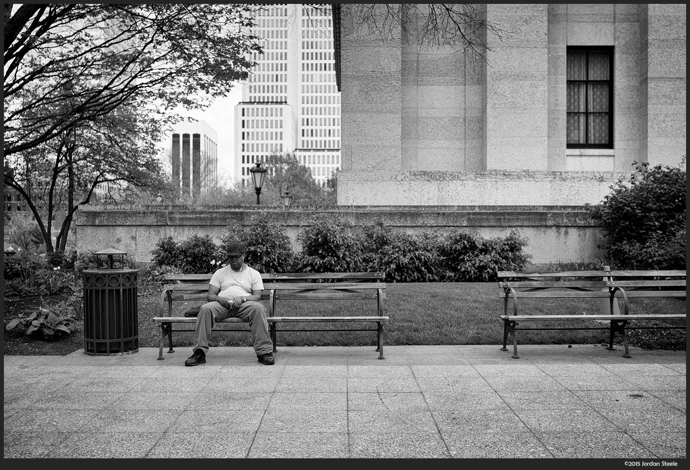Man on Bench - Sony A7 II with Zeiss FE 35mm f/1.4 Distagon @ f/2.0