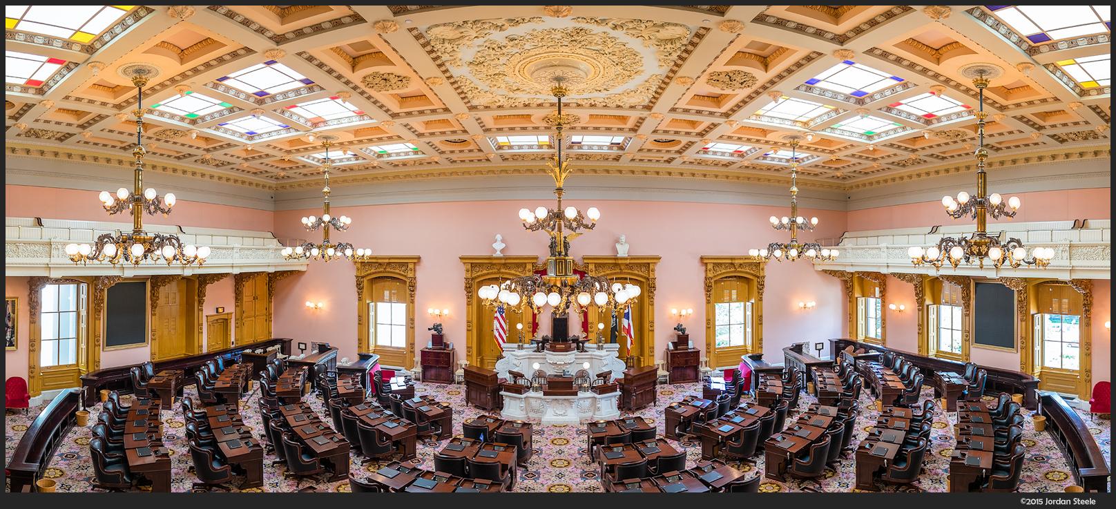 Ohio House of Representatives - Fujifilm X-T1 with Fujinon XF 16mm f/1.4 WR @ f/2.8 (5 image stitch)