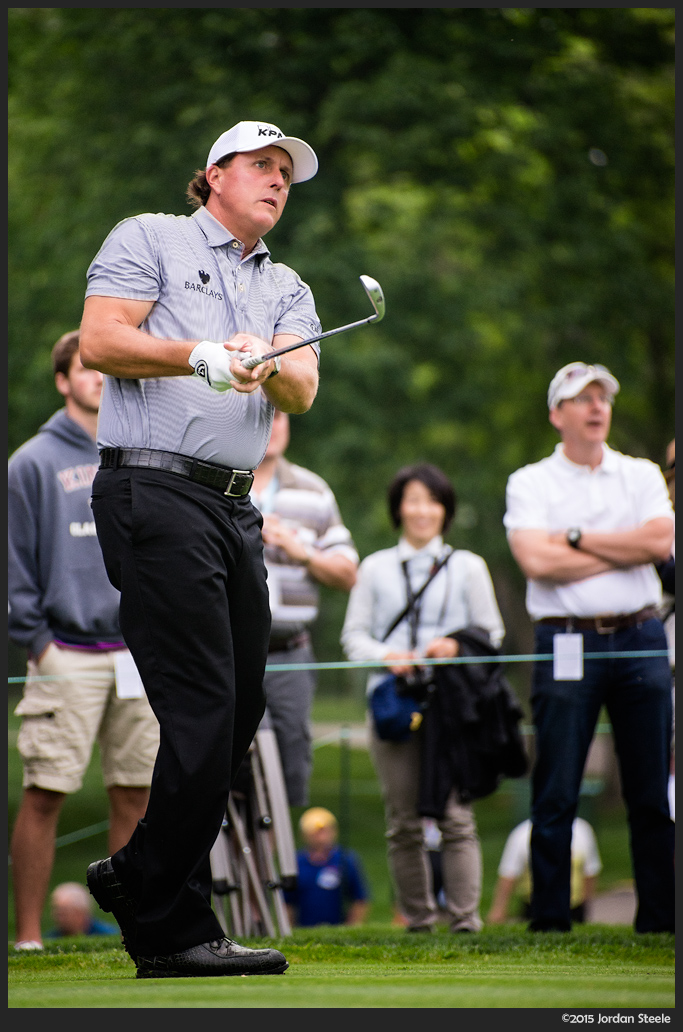 Phil Mickelson, 1st Hole - Sony A7 II with Canon FD 50-300mm f/4.5L