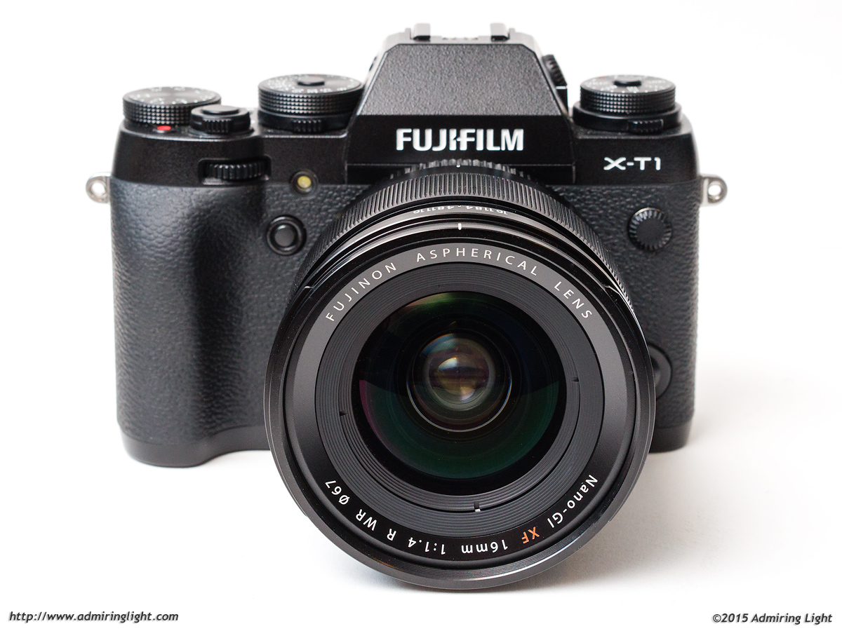 The Fujinon XF 16mm f/1.4 R WR on the Fujifilm X-T1