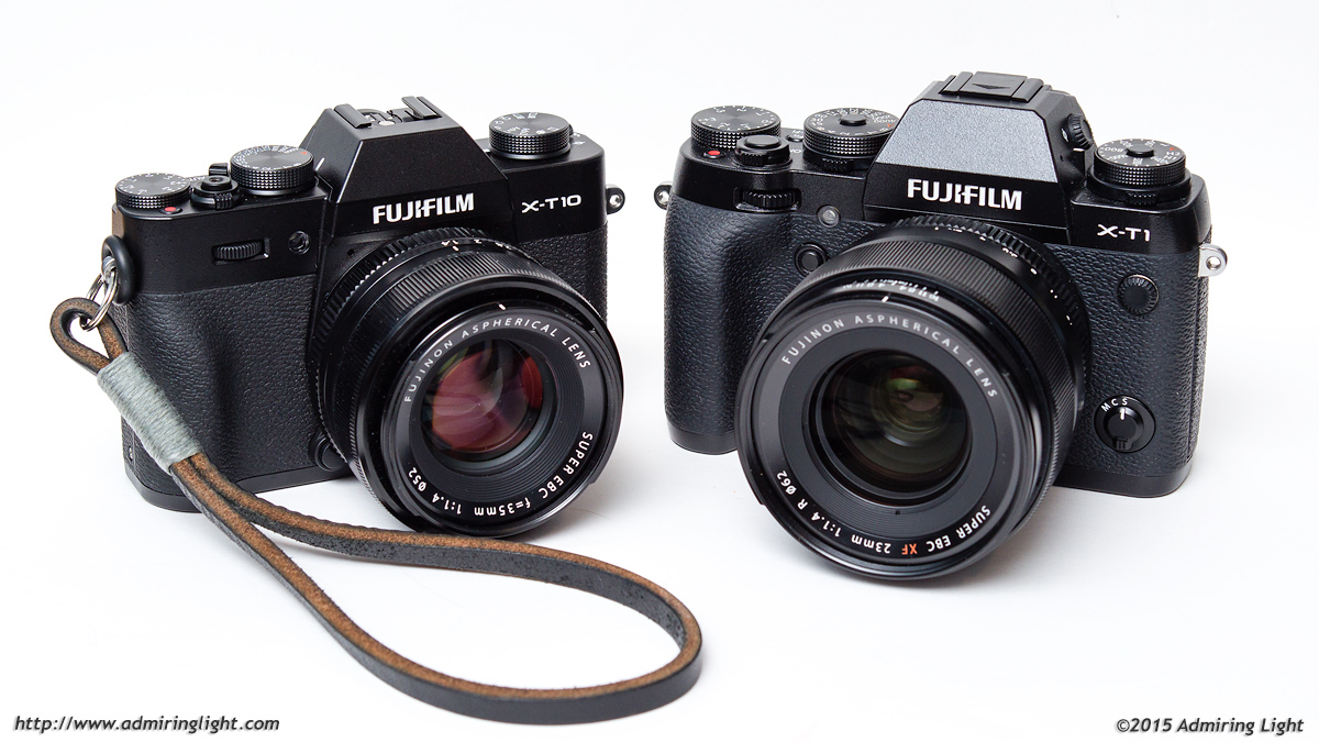 The Fuji X-T10 and X-T1