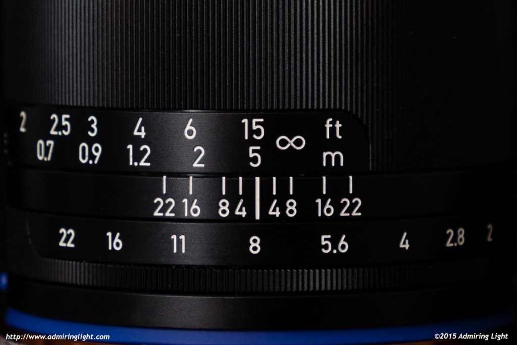 Beautifully damped focus ring and nice clicky aperture ring