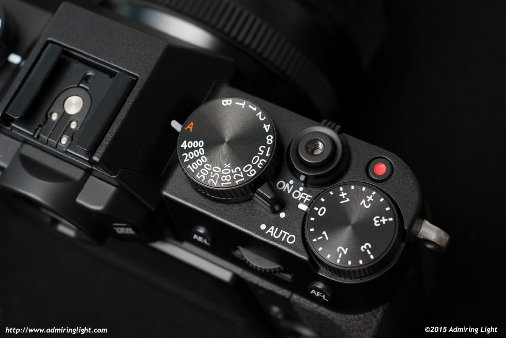The top dials on the X-T10 have nice haptic feedback and provide direct controls