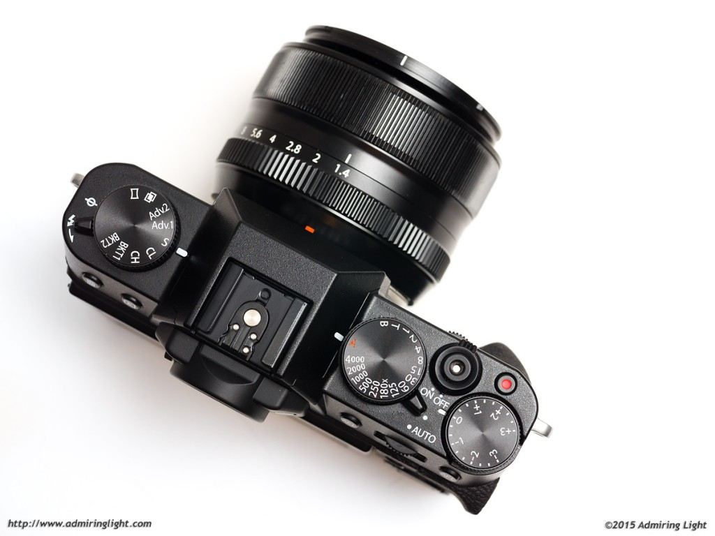 The top controls of the X-T10 are similar to other X-Series bodies
