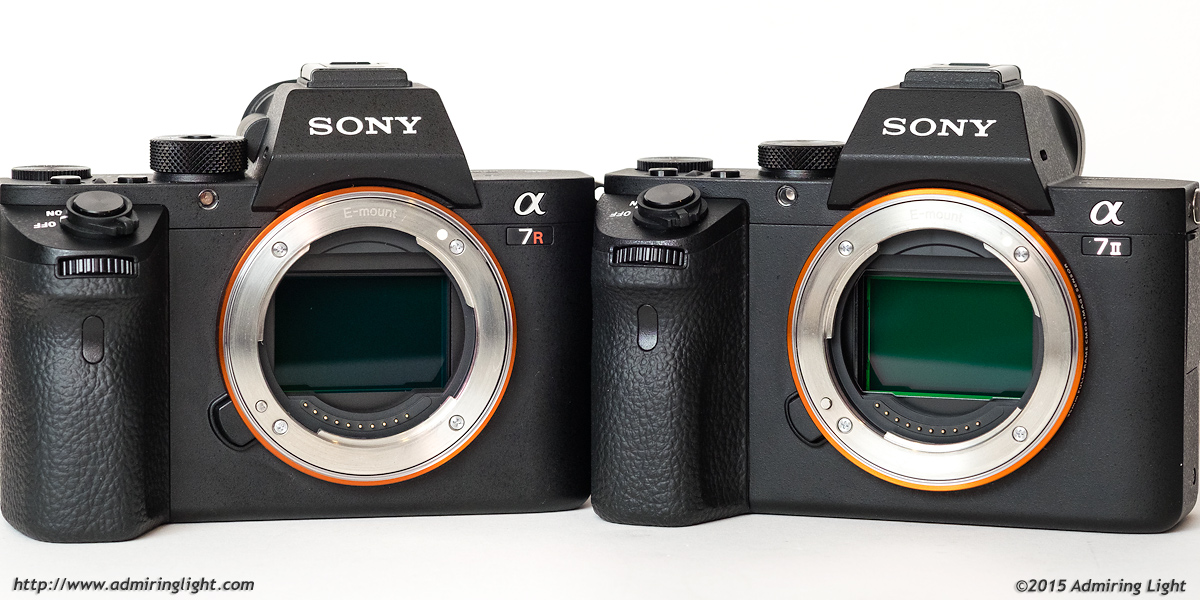 Sony A7R II (left) vs. the Sony A7 II (right)