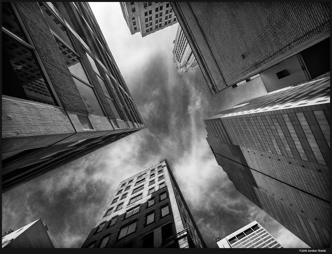 City Sky - Olympus OM-D E-M5 with Olympus 7-14mm f/2.8 PRO @ 7mm, f/5.6 (flare removed in post)