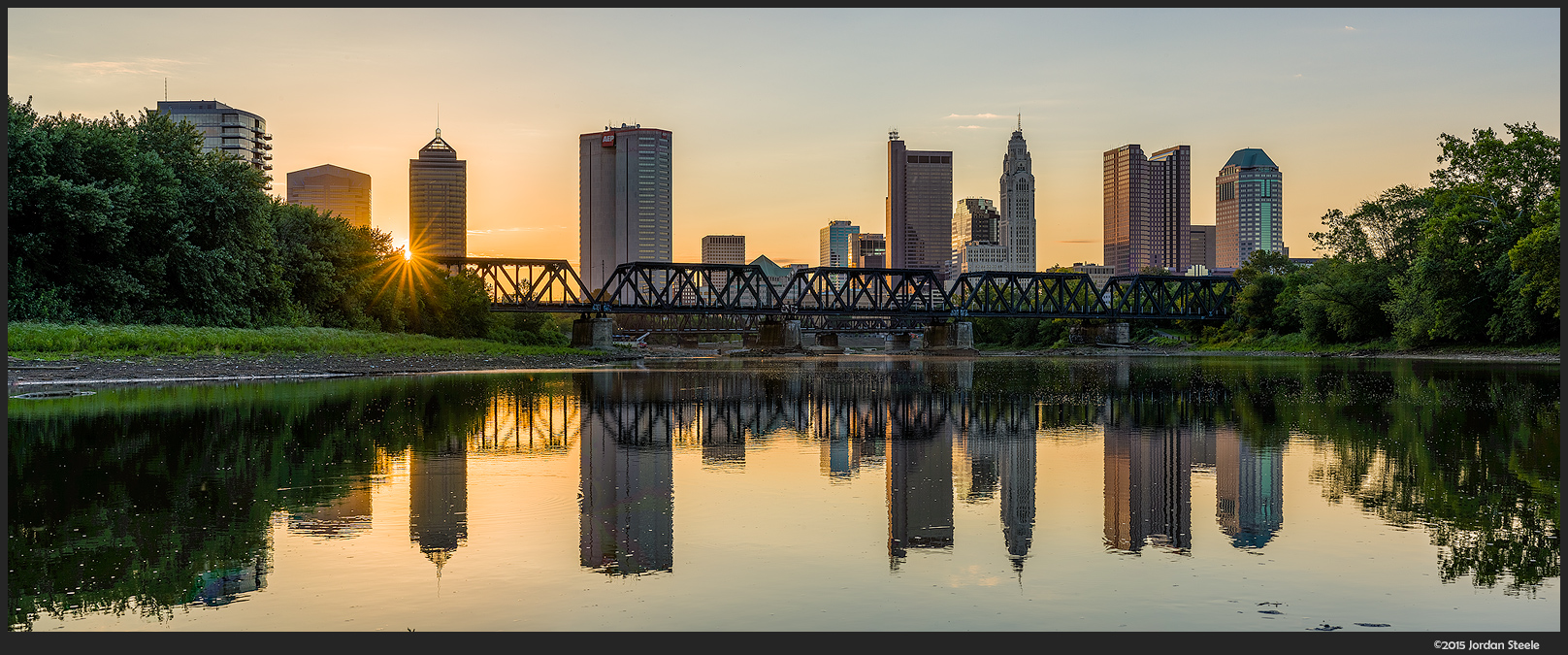 Columbus at Sunrise - Sony A7 II with Zeiss Batis 85mm f/1.8 @ f/11 (5 shot panorama)