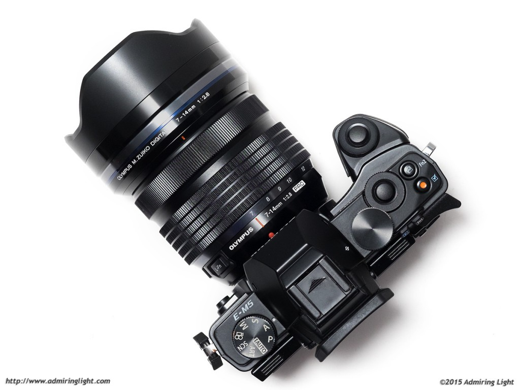 The 7-14mm f/2.8 is a large lens for Micro 4/3, but isn't overly large compared to many wide-angle zooms.