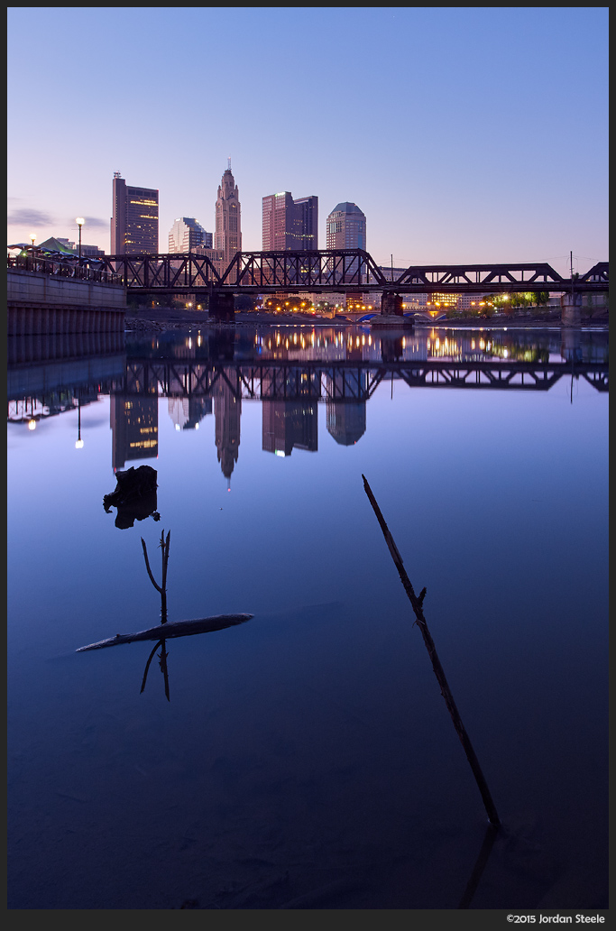 Dawn on the Scioto - Olympus OM-D E-M5 with Olympus 7-14mm f/2.8 PRO @