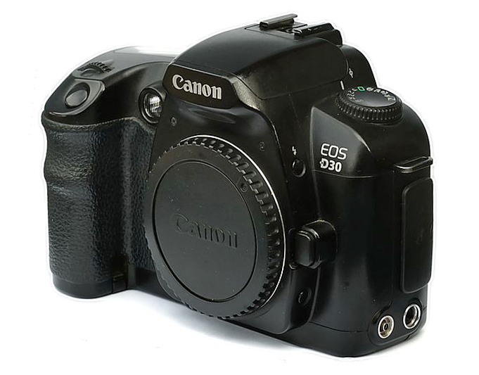 Canon EOS D30 - Photo by Lewis Collard CC-BY-SA-3.0
