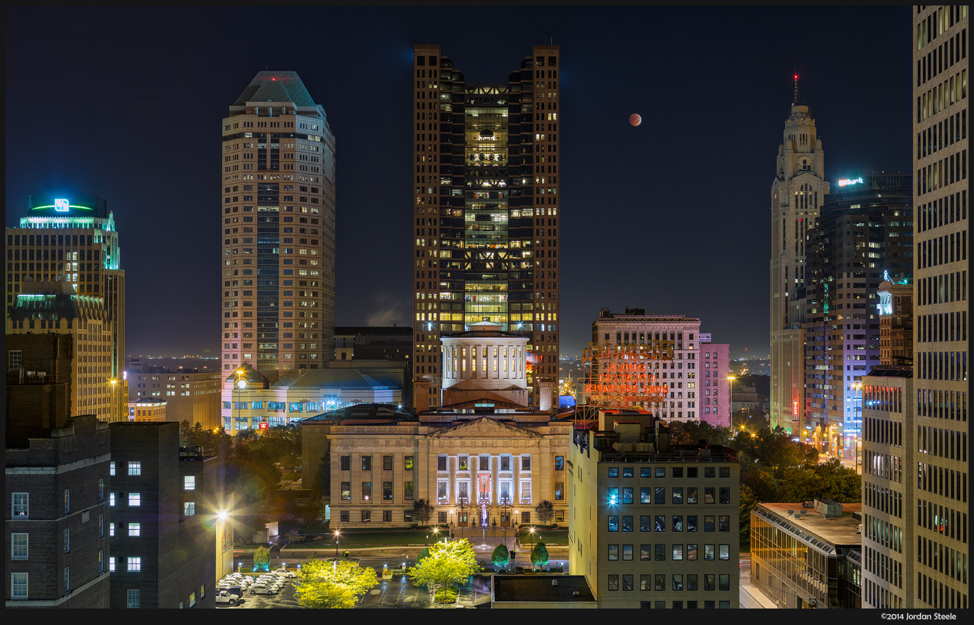 Eclipse over Columbus - Olympus OM-D E-M5 with Canon FD 50-300mm f/4.5L (Stitch of 10 images)