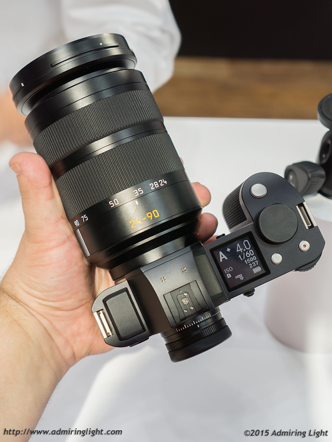 The SL with 24-90mm in the hand